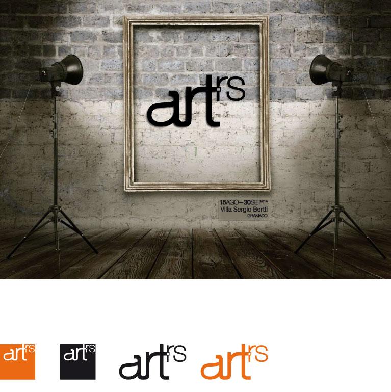 Logotipia ArtRS para Sergio Bertti e desdobramentos